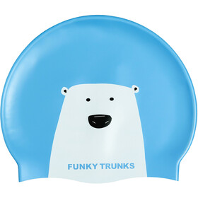 Funky Trunks Silicone Swimming Cap Bear Grills